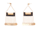 Samburu Earring with Shilingini - BLACK