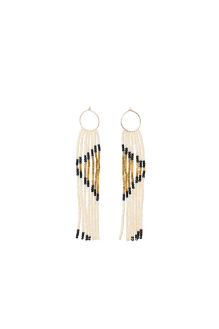 Pembetatu XS Hoop Earrings - PINK/GOLD/BLACK