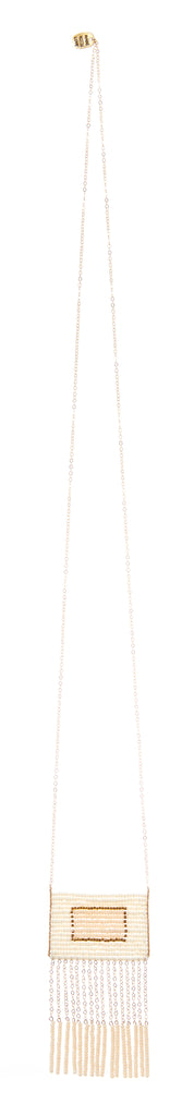 Samburu Tassel Necklace - OFF WHITE