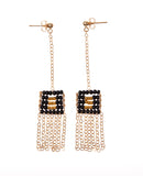 XS Pendant Drop Earring with Chain Tassel