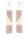 Geometric Earring with Chain
