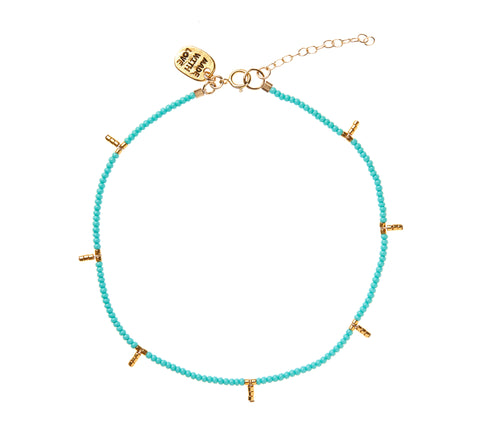 Kisongo Anklet - TURQUOISE