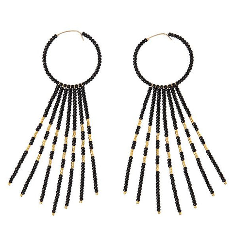 Porcupine Earrings - BLACK/GOLD