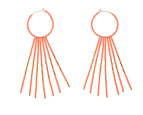 Porcupine Earrings - SALMON/GOLD