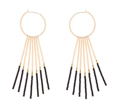 Porcupine Earrings - PINK/BLACK/GOLD