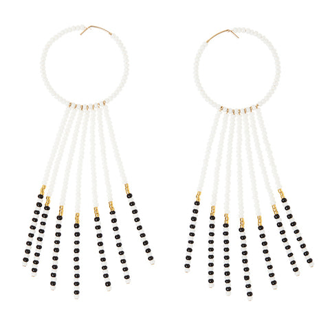 Porcupine Earrings - WHITE/BLACK/GOLD