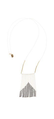 Porcupine Naibor Necklace White/Gold/Black