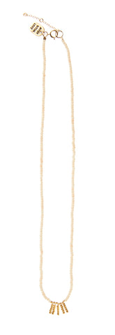 5 Bar Kisongo Necklace - PINK