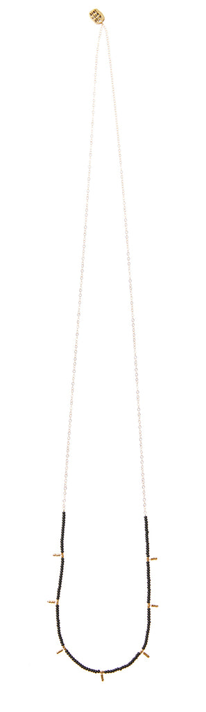 7 Drop Long Single Strand Necklace