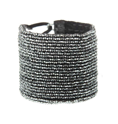 Leather Simple Bracelet - SHINY GRAPHITE