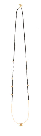 Long Mixed Bar Beaded Necklace