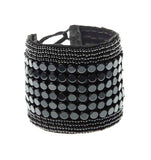 Leather Multi Stripe Bracelet Cuff