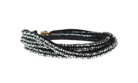 Simple XS Triple Wrap Bracelet - SHINY GRAPHITE