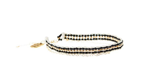 XS Stripe Warrior Chain Bracelet - BLACK