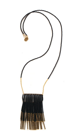 Porcupine Double Naibor Necklace - Black/Gold