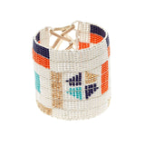 Wide Pattern Warrior Bracelet