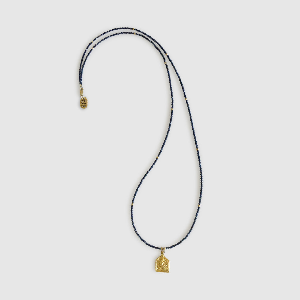Ngao Long Necklace With Pendant [ sapphire ]