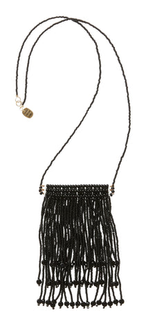 Triple Tassel Necklace - Black