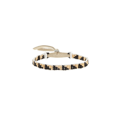 XS Triangle Warrior Bracelet - BLACK/GOLD