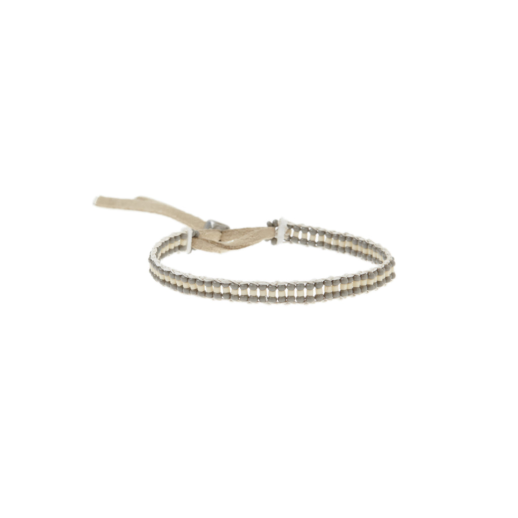 XS Stripe Warrior Bracelet - GREY/CREAM