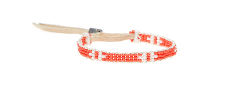 XS Mayan Warrior Bracelet - SALMON