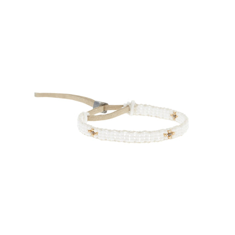 XS Cross Warrior Bracelet - WHITE/GOLD/GREY