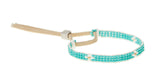 XS Cross Warrior Bracelet - TURQUOISE/WHITE/GOLD