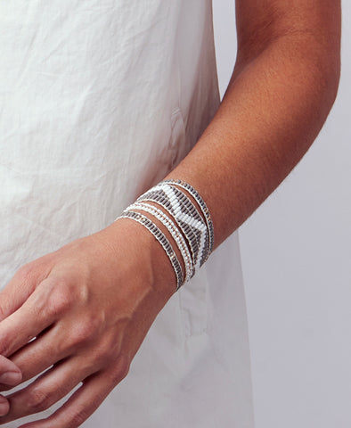 Narrow Zig Zag Warrior Bracelet