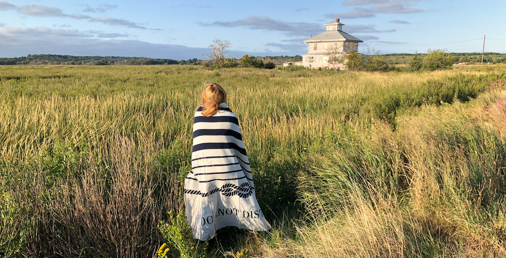 visiting plum island custom eco throw