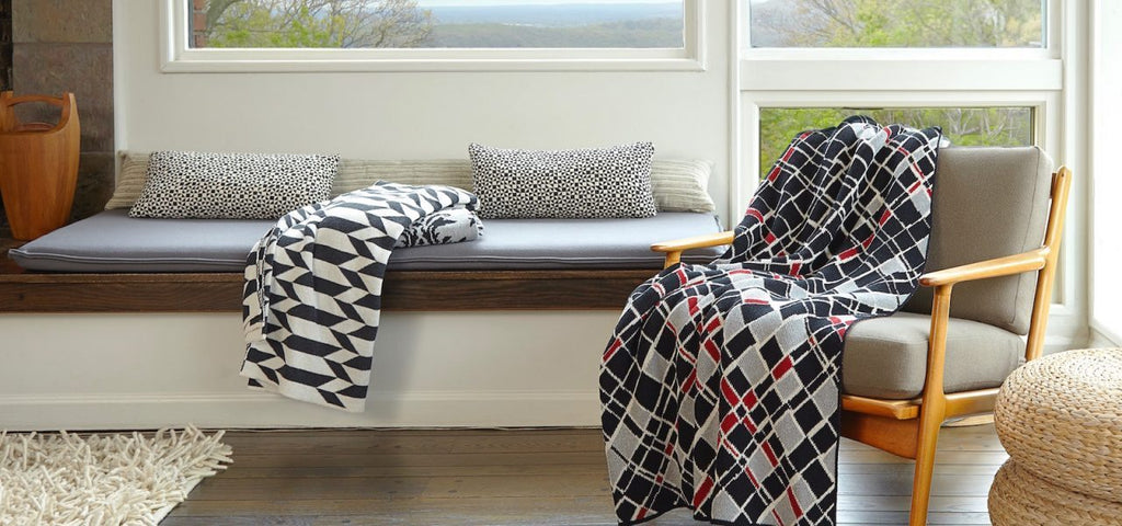 eco friendly chevron blanket