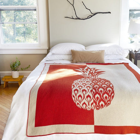 pineapple eco bed throw design
