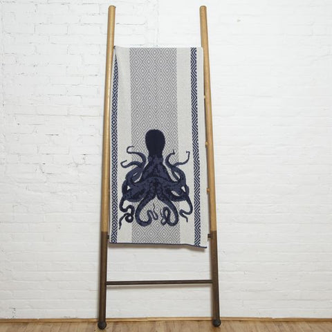 octopus square eco throw