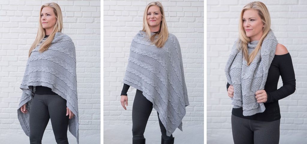 gray eco friendly poncho
