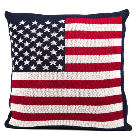 Eco American Flag Pillow