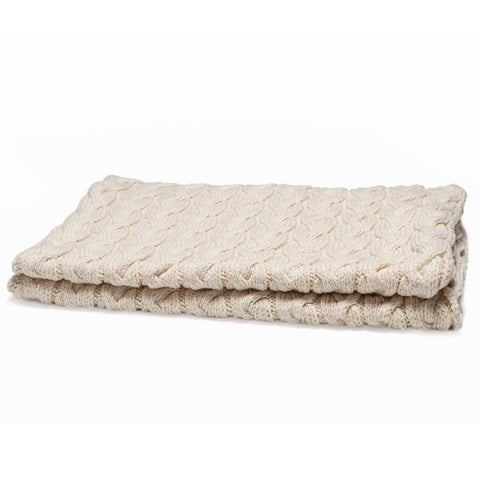 Eco Baby Organic Cable Throw