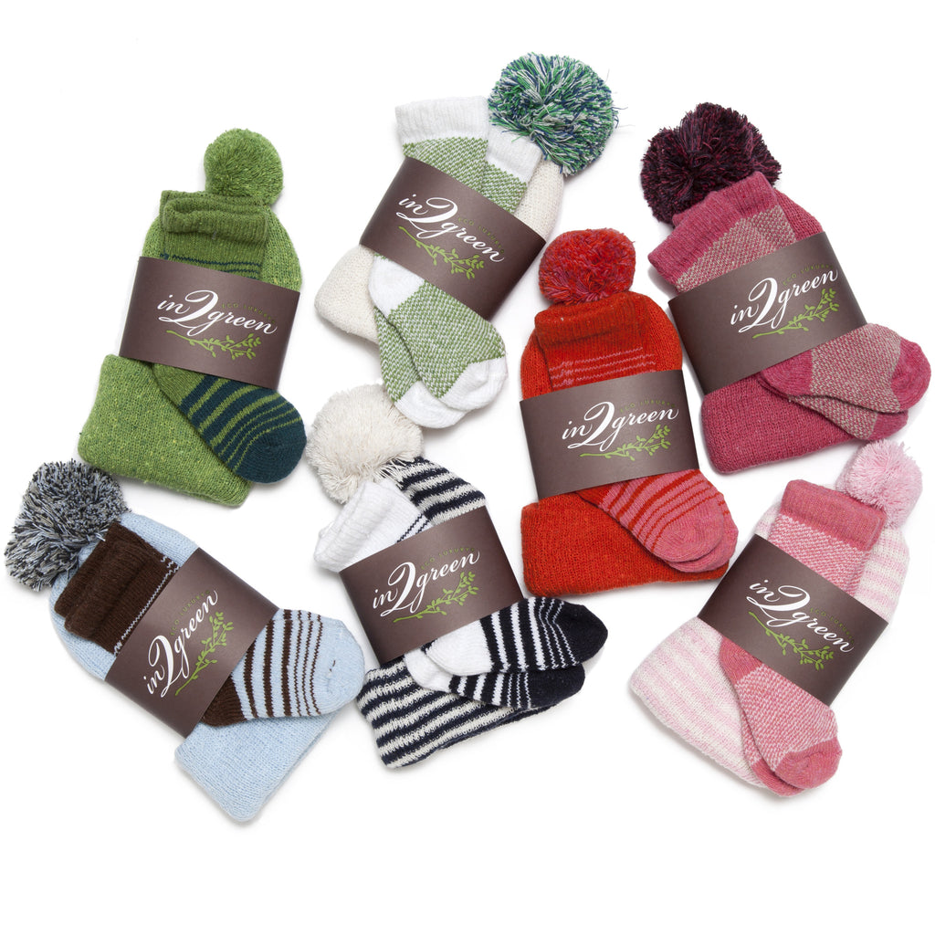Eco Baby Hat & Sock Set