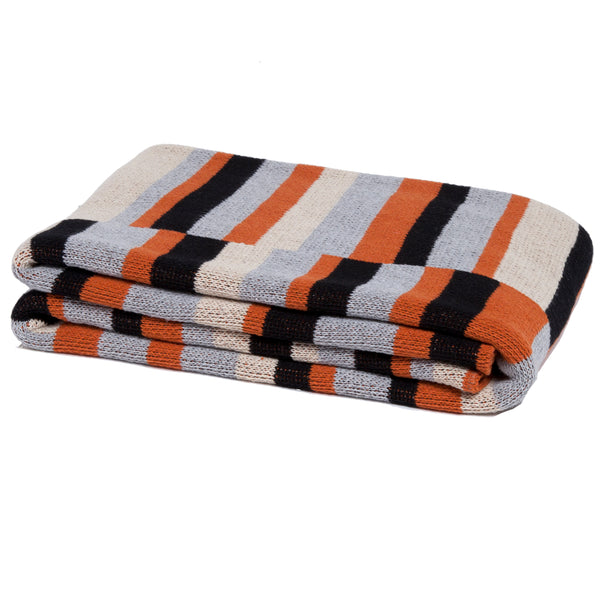 Eco Block Stripe Throw