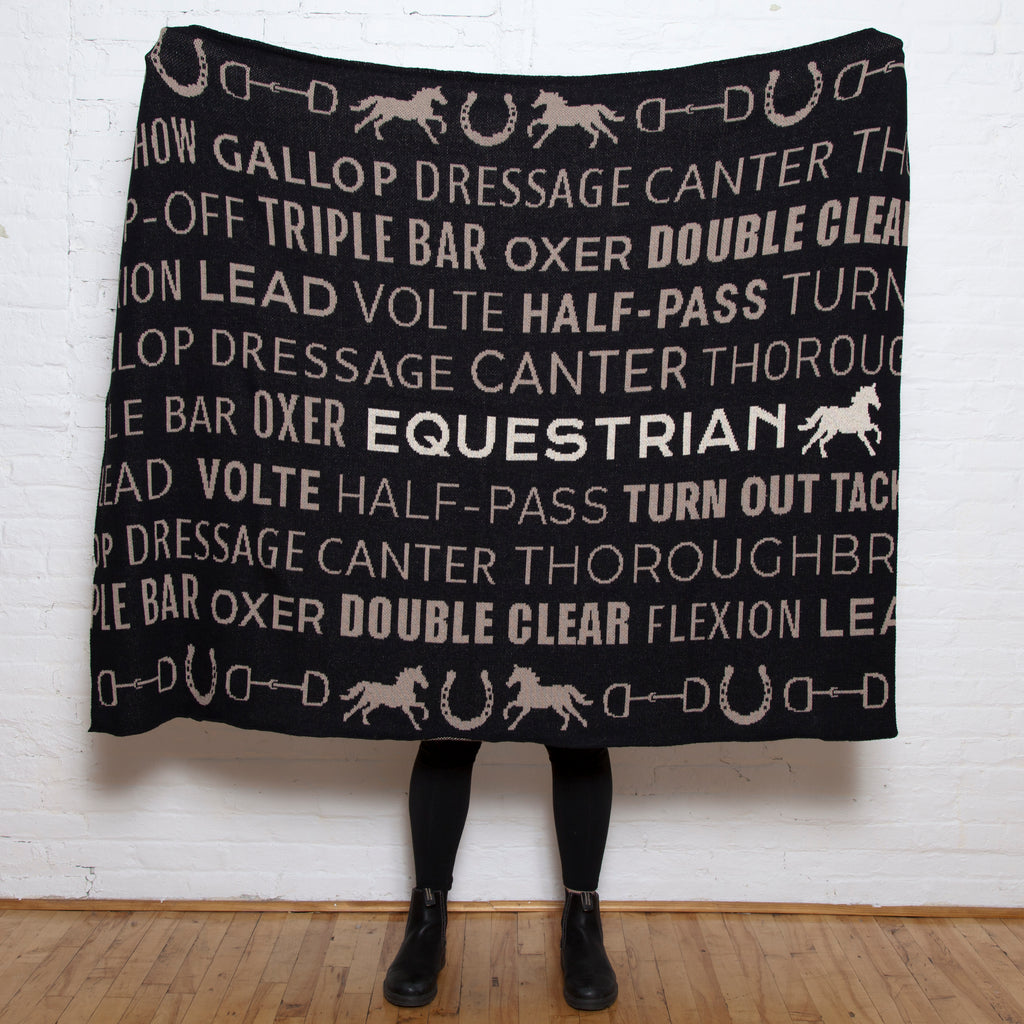 Eco Equestrian Text Throw