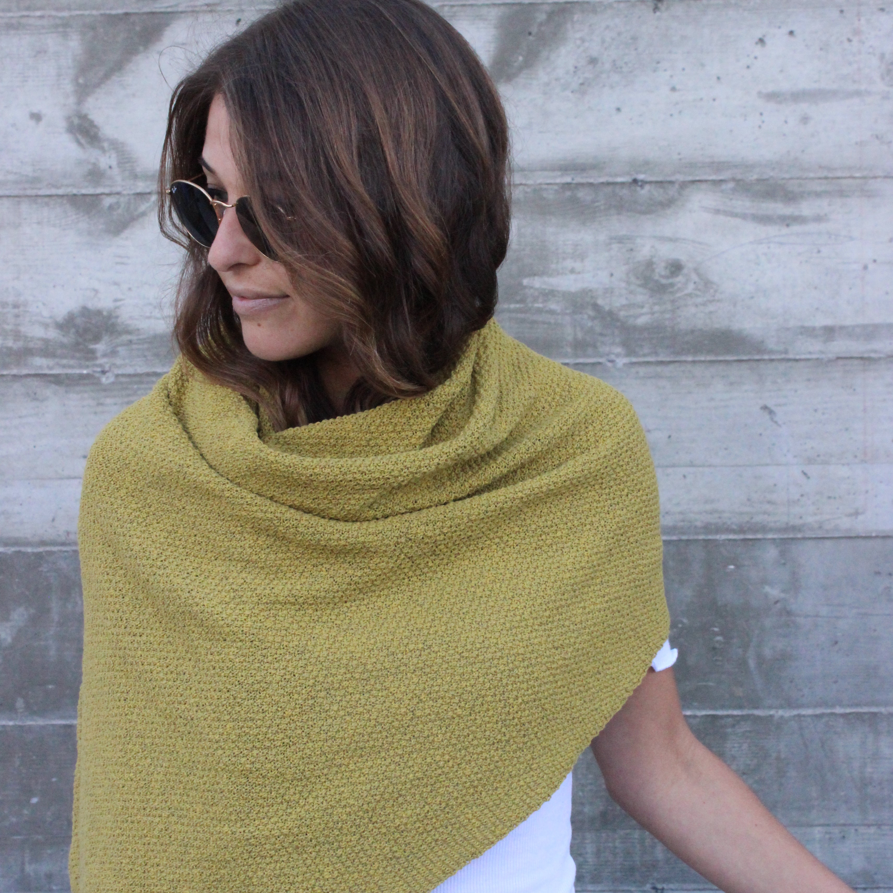 Eco Seed Stitch Scarf In2green