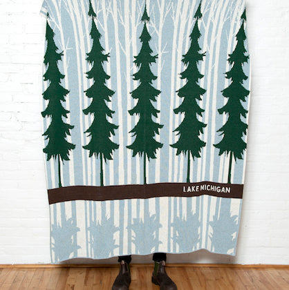 Eco Lake Forest Personalized Throw