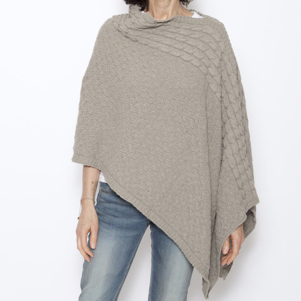 Eco Roll Neck Poncho