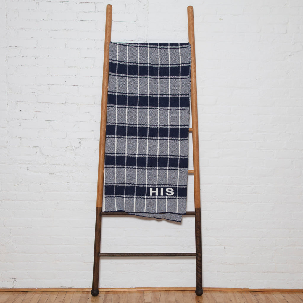 Eco Plaid Personalized Throw