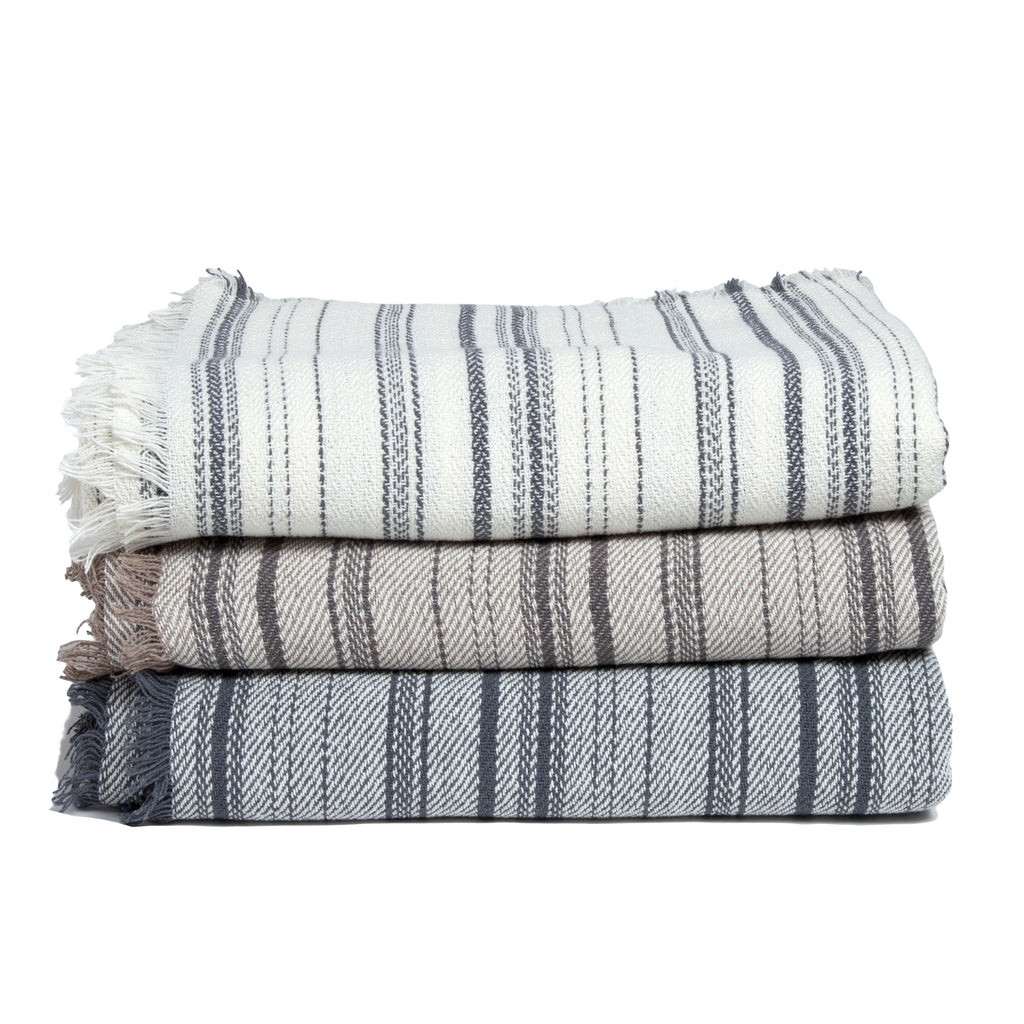 Eco Woven Lines Throw