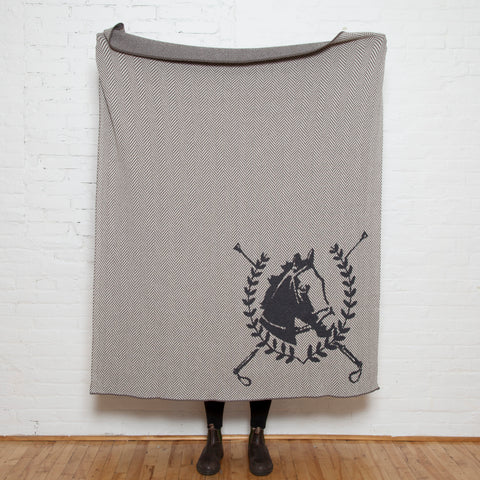Eco Horse Crest Throw