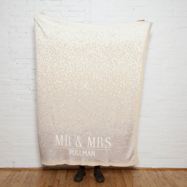 Eco Glitter Personalized Throw