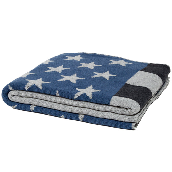 Eco Modern American Flag Throw