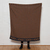 Eco Houndstooth Bit Reversible Throw