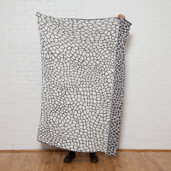 Eco Reversible Peel Throw by Jill Malek