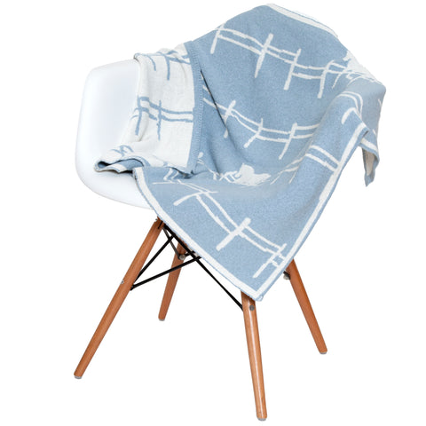 Eco Reversible Baby Pony Fence Throw