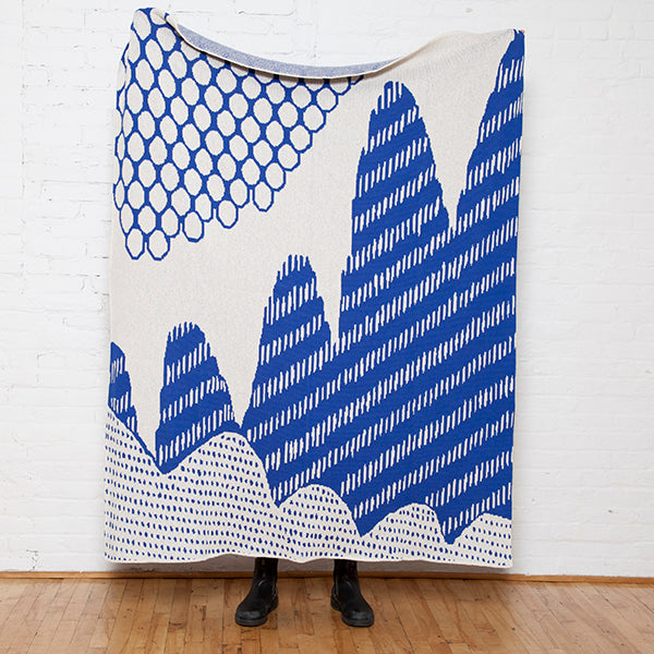 Eco Mountain Throw by Elodie Blanchard